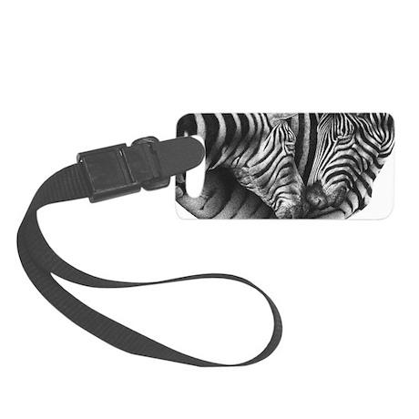 Zebras Small Luggage Tag