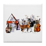 Devon Eight-piece Jazz Band Tile Coaster