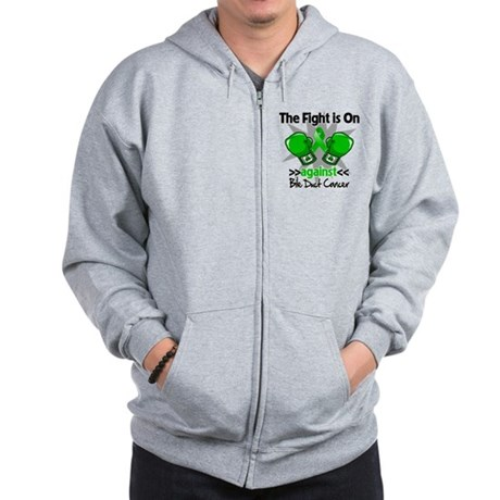 Fight is On Bile Duct Cancer Zip Hoodie