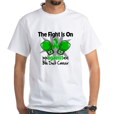 Fight is On Bile Duct Cancer White T-Shirt