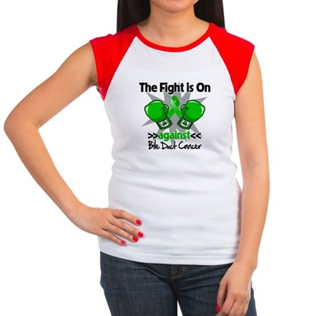 Fight is On Bile Duct Cancer Women's Cap Sleeve T-