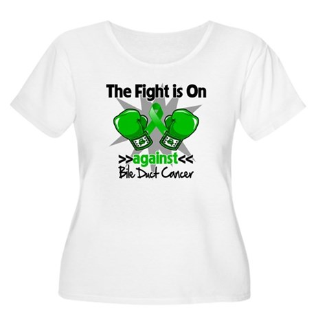 Fight is On Bile Duct Cancer Women's Plus Size Sco