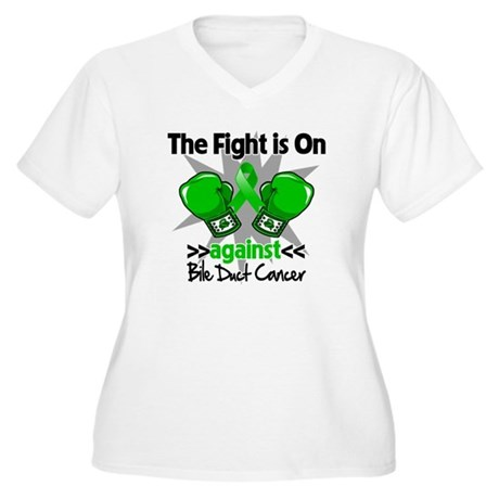 Fight is On Bile Duct Cancer Women's Plus Size V-N