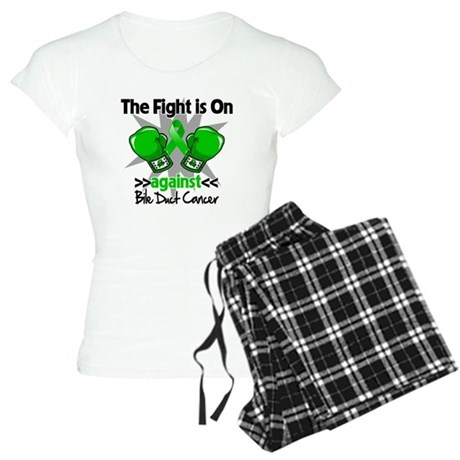 Fight is On Bile Duct Cancer Women's Light Pajamas