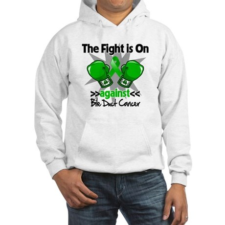 Fight is On Bile Duct Cancer Hooded Sweatshirt