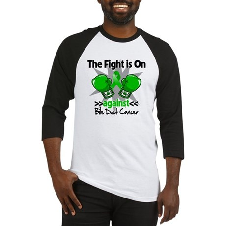 Fight is On Bile Duct Cancer Baseball Jersey