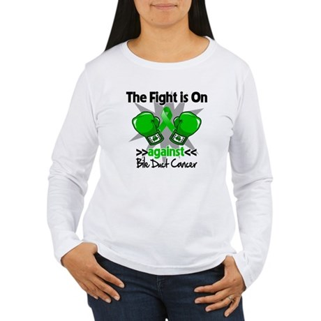 Fight is On Bile Duct Cancer Women's Long Sleeve T