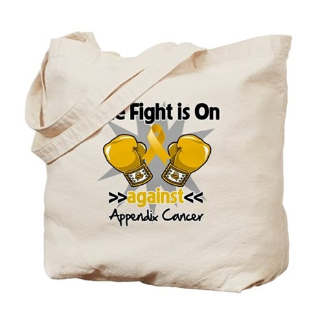 Fight is On Appendix Cancer Tote Bag