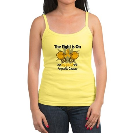 Fight is On Appendix Cancer Jr. Spaghetti Tank