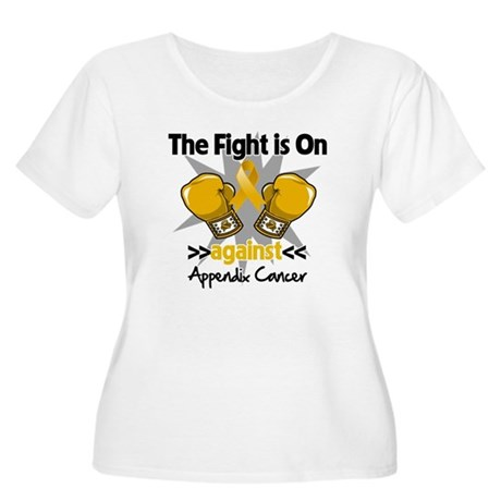 Fight is On Appendix Cancer Women's Plus Size Scoo
