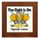 Fight is On Appendix Cancer Framed Tile