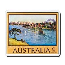 Australia Travel Poster 10 Mousepad