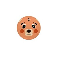 Orange Pig Monster Mini Button (10 pack)