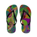 Colorful Paisley Flip Flops