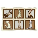 Ferret Squares Pillow Case