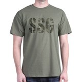 Camo Staff Sergeant SSG rank T-Shirt