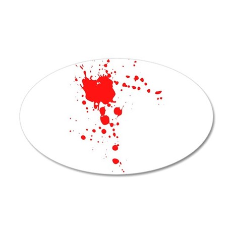 Blood 20x12 Oval Wall Decal