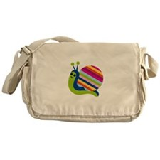 Happy Snail Messenger Bag