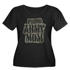 Proud Army Mom camo print T