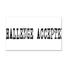 Challenge Accepted Rectangle Car Magnet