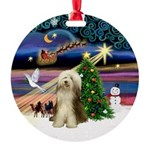 Bearded Collie Round Ornament