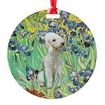 Bedlington T Round Ornament