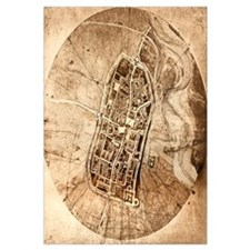 Historical city map of Imola, Italy