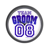 Team Groom 08 Wall Clock