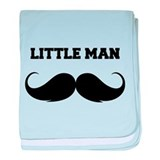 Little man baby blanket