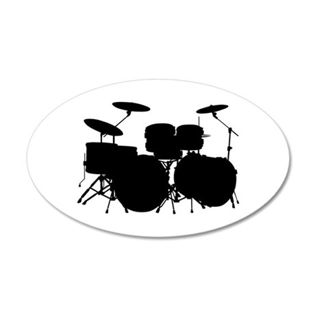 Drums 35x21 Oval Wall Decal