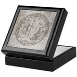 Vintage North Carolina Seal Keepsake Box