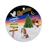 XmasSigns-Blenheim Cavalier Ornament (Round)
