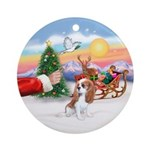 Treat for a Cavalier Pup (blen) Ornament (Round)