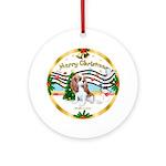 XmasMusic1W-Cavalier Pup (blen) Ornament (Round)