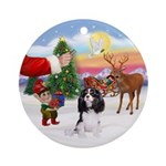 Treat for a Tri color Cavalier Ornament (Round)