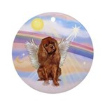 Clouds - Ruby Cavalier Angel Ornament (Round)