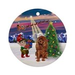 TakeOFf2 - Ruby Cavalier Ornament (Round)