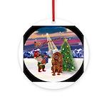TakeOFf2 - Ruby Cavalier Ornament (Round)