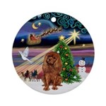 XmasMagic-Ruby Cavalier Ornament (Round)