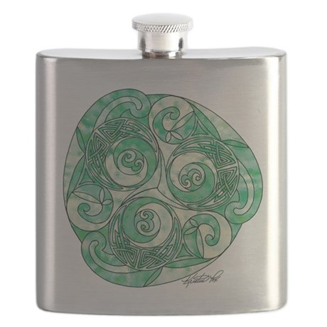 Celtic Green TriSpiral Flask