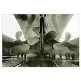The Titanic's propellers in the Thompson Graving D