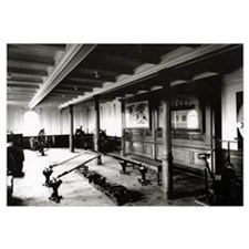 The onboard gym on the Titanic showing the rowing