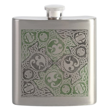 Celtic Knotwork Puzzle Square Flask