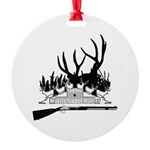 Muzzleloader Hunter Round Ornament