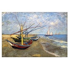 Fishing Boats on the Beach at Saintes-Maries-de-la