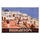 Poster advertising travel to Brighton (colour lith