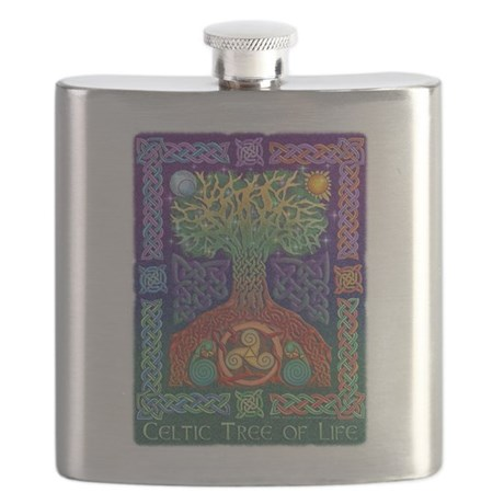 Celtic Tree of Life Flask