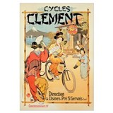 Poster advertising 'Cycles Clement', Pre Saint-Ger