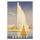 Advertisement for travel to Geneva, c.1937 (colour