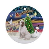 XmasMagic-Clumber Spaniel Ornament (Round)